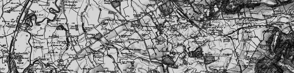 Old map of Coulby Newham in 1898