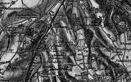Old map of Coulsdon in 1895