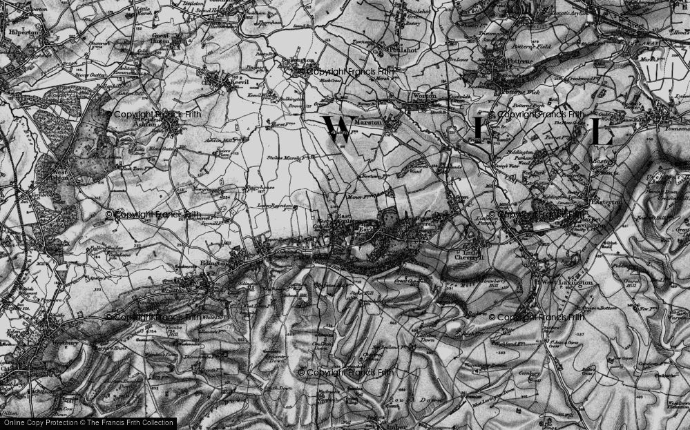 Old Map of Coulston, 1898 in 1898