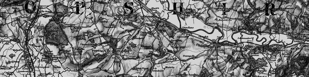 Old map of Lawns, The in 1899