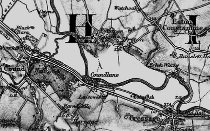 Old map of Leasowes in 1899