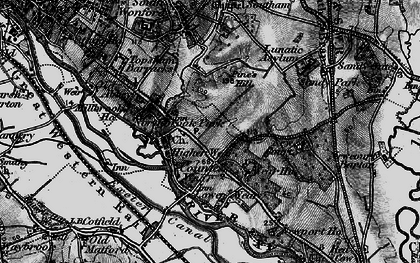 Old map of Countess Wear in 1898