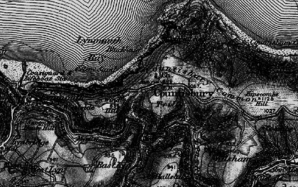 Old map of Countisbury in 1898