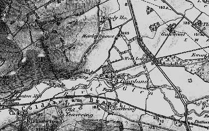 Old map of Yeavering in 1897