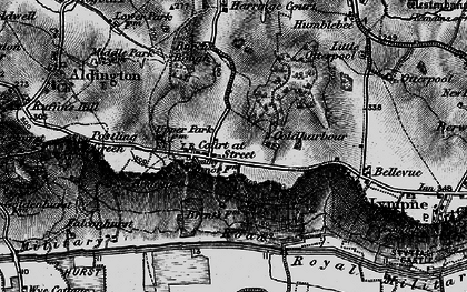 Old map of Aldergate Wood in 1895