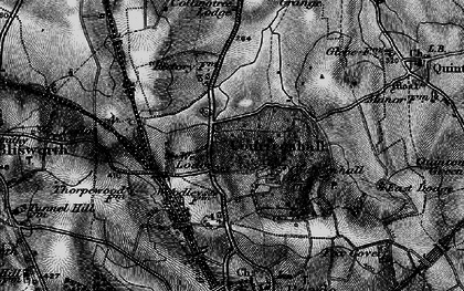 Old map of Courteenhall in 1896