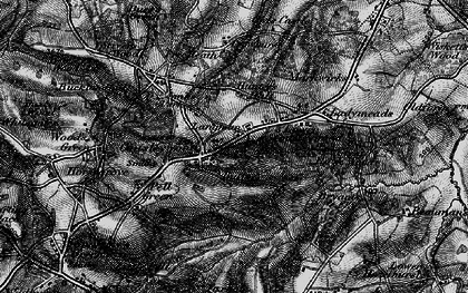 Old map of Cousley Wood in 1895