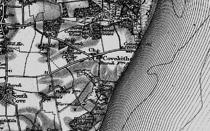 Old map of Covehithe in 1898