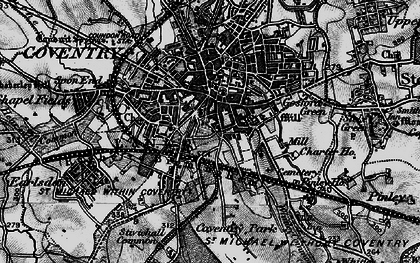 Old map of Coventry in 1899