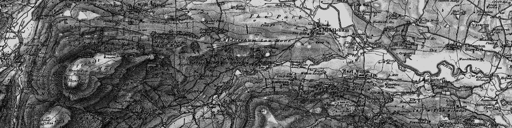 Old map of Coverham in 1897