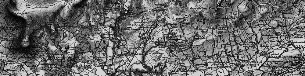 Old map of Wilsons in 1896