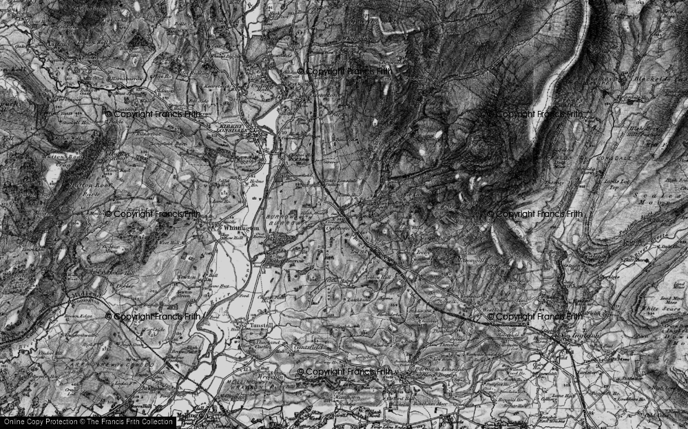 Old Map of Cowan Bridge, 1898 in 1898