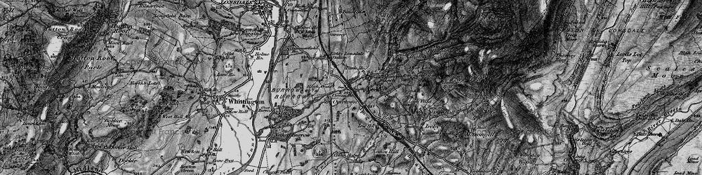 Old map of Cowan Bridge in 1898