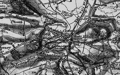Old map of Cowbridge in 1897
