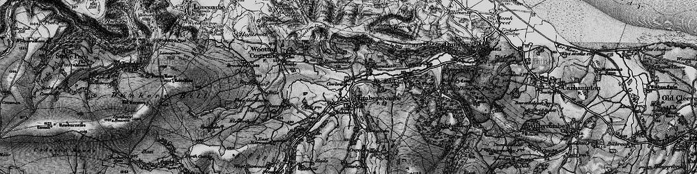Old map of Whits Wood in 1898