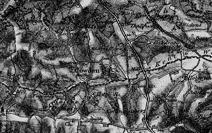 Old map of Cowden in 1895