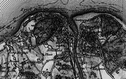 Old map of Cowes in 1895