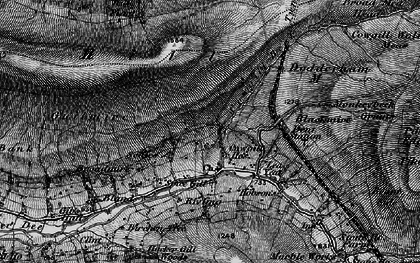 Old map of Wry Gill in 1897