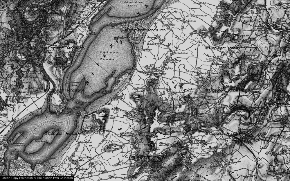 Old Map of Historic Map covering Titters Hill in 1897