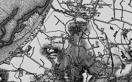 Old map of Titters Hill in 1897