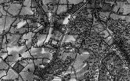 Old map of Cowplain in 1895