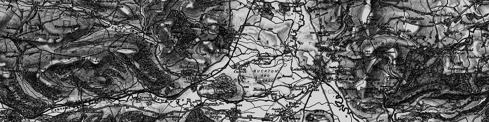 Old map of Adley Moor in 1899
