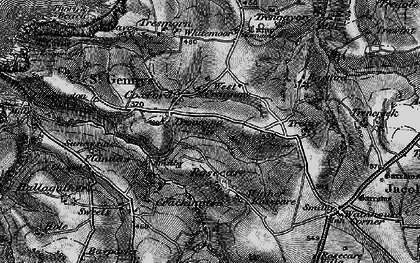 Old map of Whitemoor in 1896