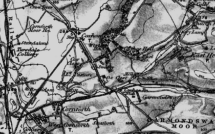 Old map of Coxhoe in 1898