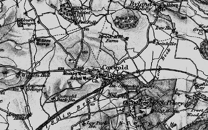Old map of Coxwold in 1898