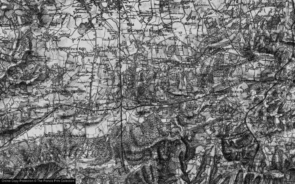 Old Map of Historic Map covering Ley House in 1895