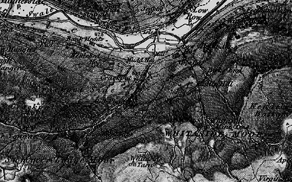 Old map of Whitaside Moor in 1897