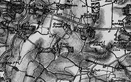 Old map of Cradle End in 1896