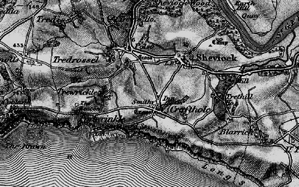 Old map of Crafthole in 1896