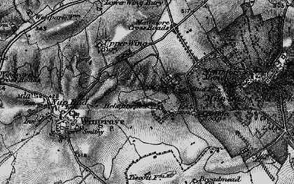 Old map of Crafton in 1896