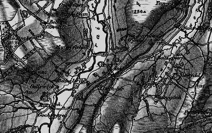 Old map of Fforest Fach in 1898