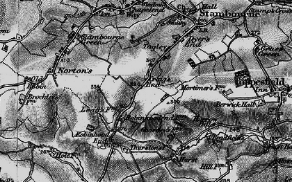 Old map of Le Hurst in 1895