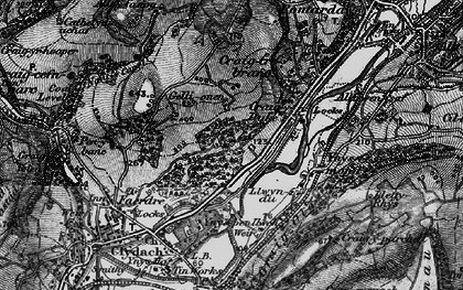 Old map of Ynys-y-mond in 1897