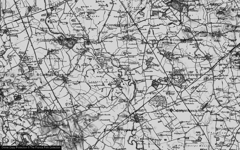 Old Map of Historic Map covering Leckby Grange in 1898