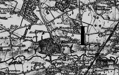 Old map of Cranage in 1896