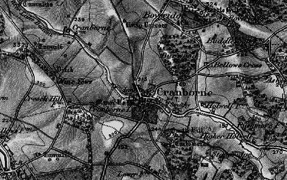 Old map of Cranborne in 1895