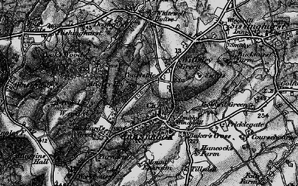 Old map of Angley Ho in 1895