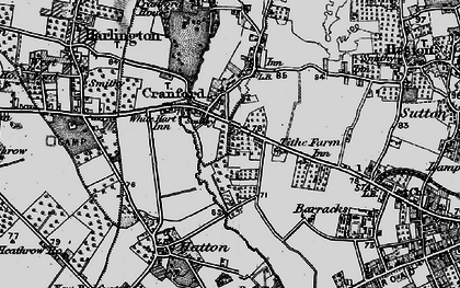 Old map of Cranford in 1896