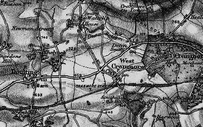 Old map of Cranmore in 1898