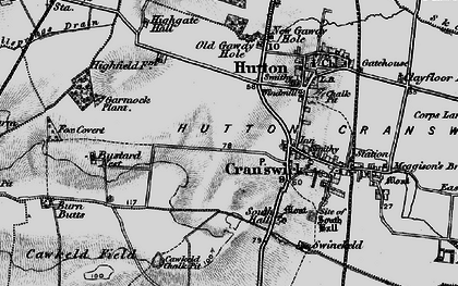 Old map of Cranswick in 1898