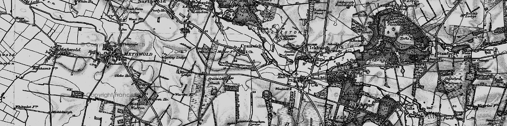 Old map of Cranwich in 1898