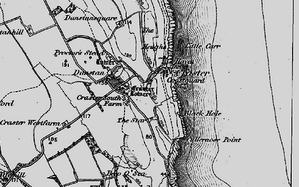 Old map of Craster in 1897
