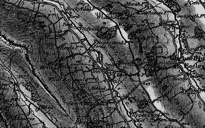 Old map of Auburys in 1896