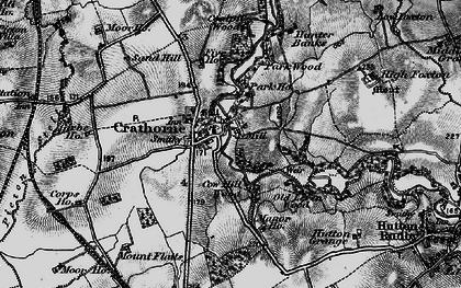 Old map of Crathorne in 1898