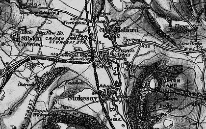 Old map of Craven Arms in 1899