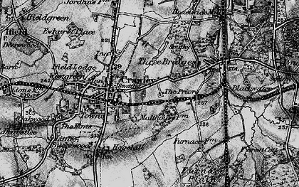 Old map of Crawley in 1896